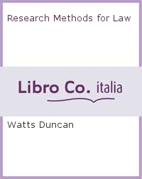 Research Methods for Law