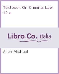 Textbook On Criminal Law 12 e