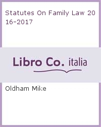 Statutes On Family Law 2016-2017.