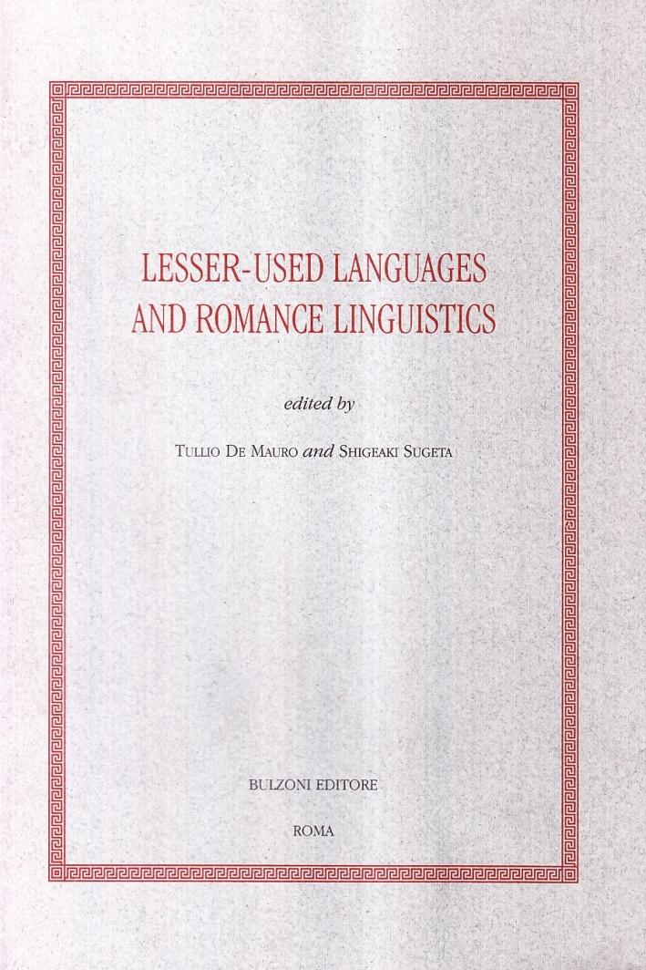 Lesser-used languages and romance linguistics