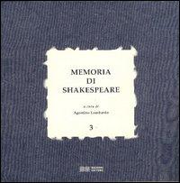 Memoria di Shakespeare. Vol. 3