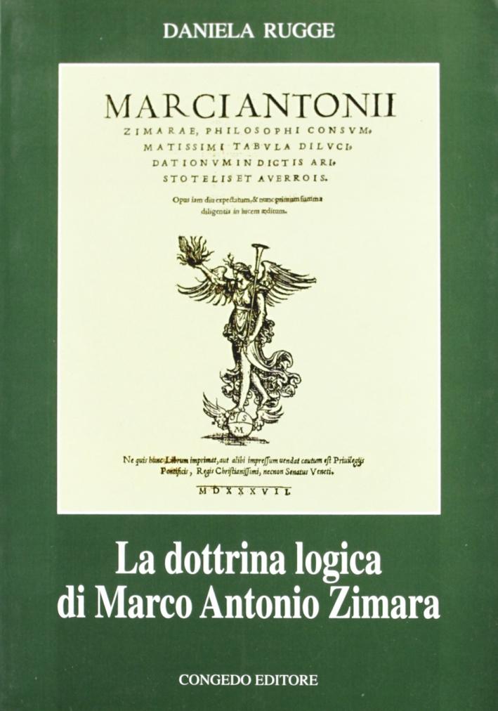 La dottrina logica di Marco Antonio Zimara