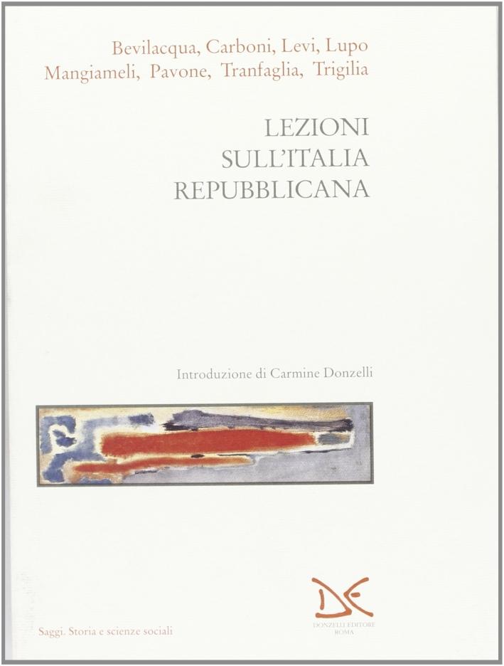 Lezioni sull'Italia repubblicana.