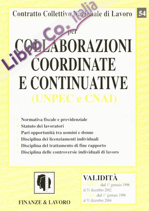 Collaborazioni coordinate e continuative (UNPEC e CNAI)