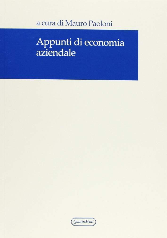 Appunti di economia aziendale.