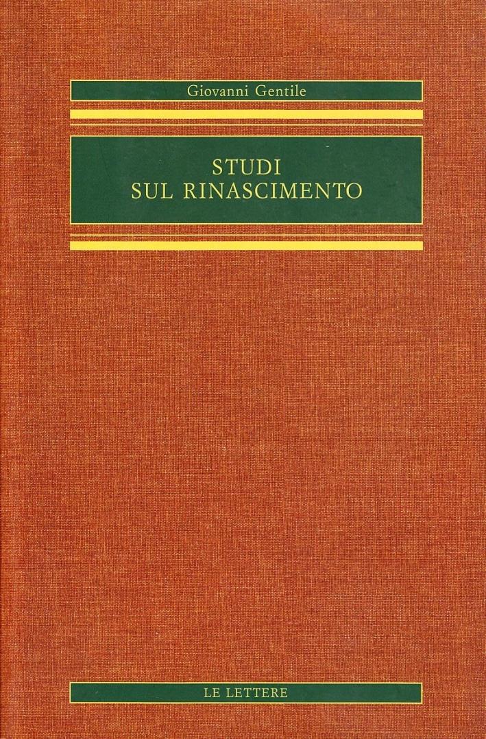 Studi sul Rinascimento.
