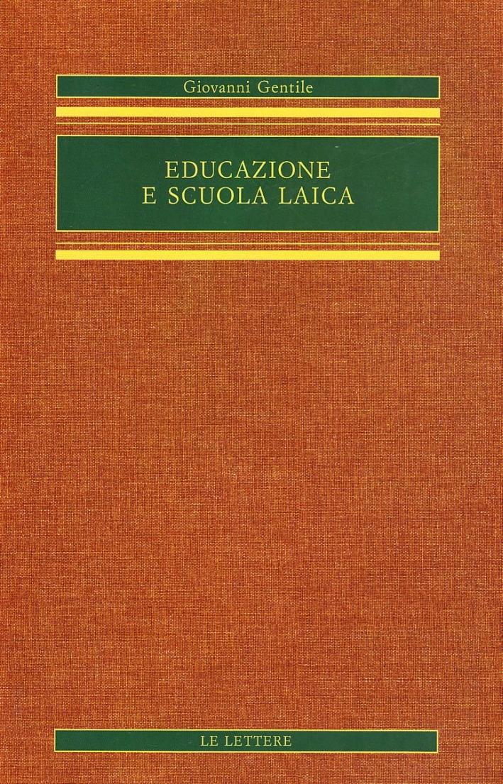 Educazione e scuola laica