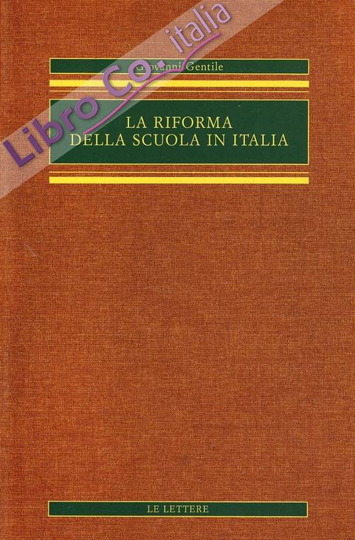 La Riforma delle Scuola in Italia