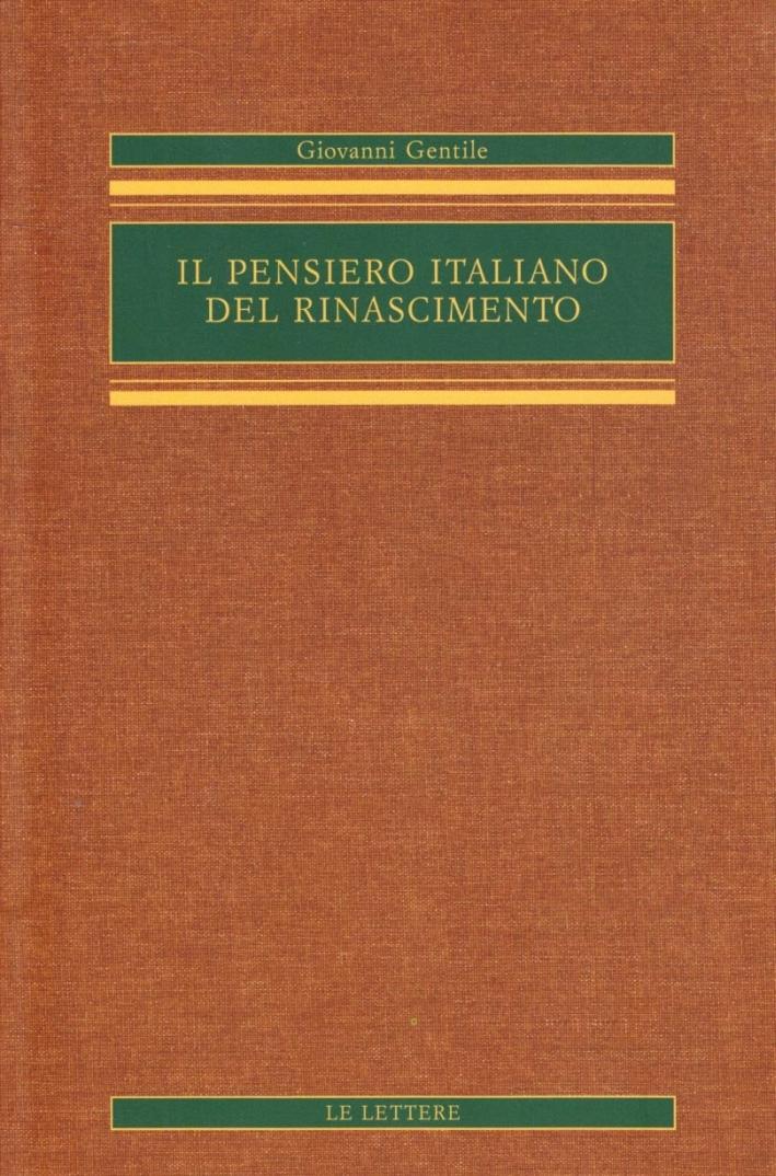Il pensiero italiano del Rinascimento