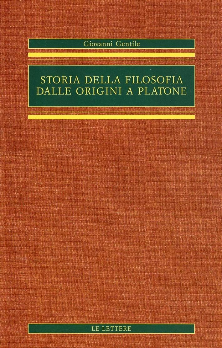 Storia della filosofia dalle origini a Platone.