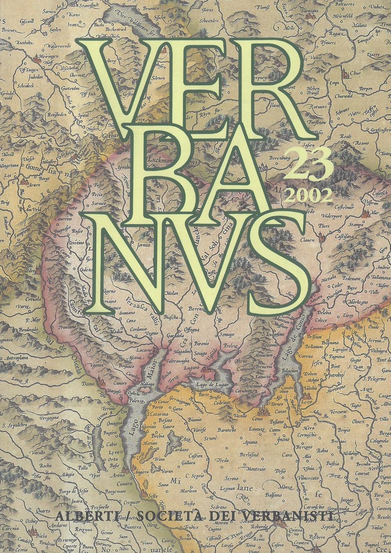 Verbanus. Rivista per la cultura, l'arte, la storia del lago. Vol. 23