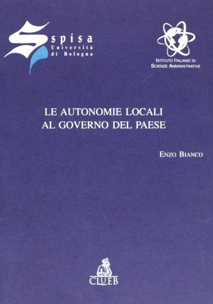 Le autonomie locali al governo del paese. Inaugurazione dell'anno accademico Spisa 2000-2001.