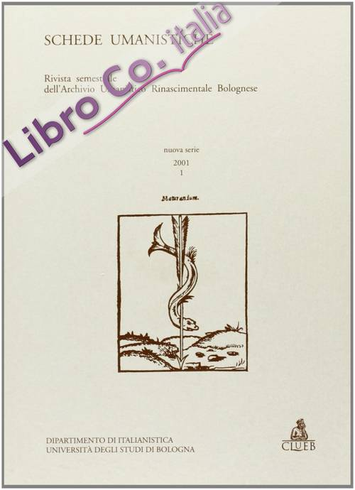 Schede umanistiche (2001). Vol. 1.