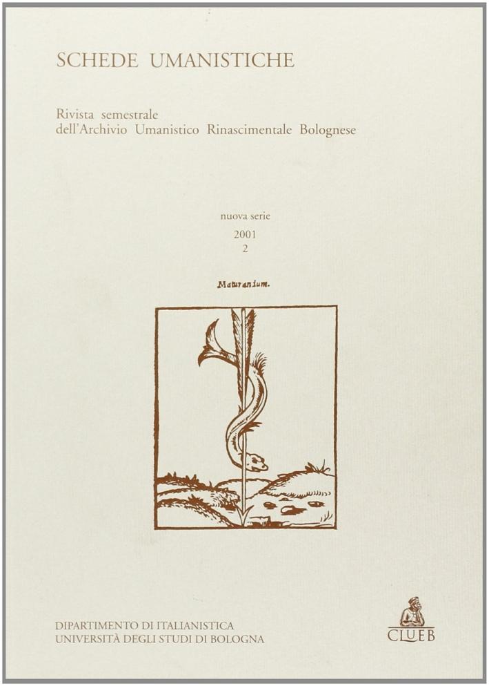 Schede umanistiche (2001). Vol. 2.