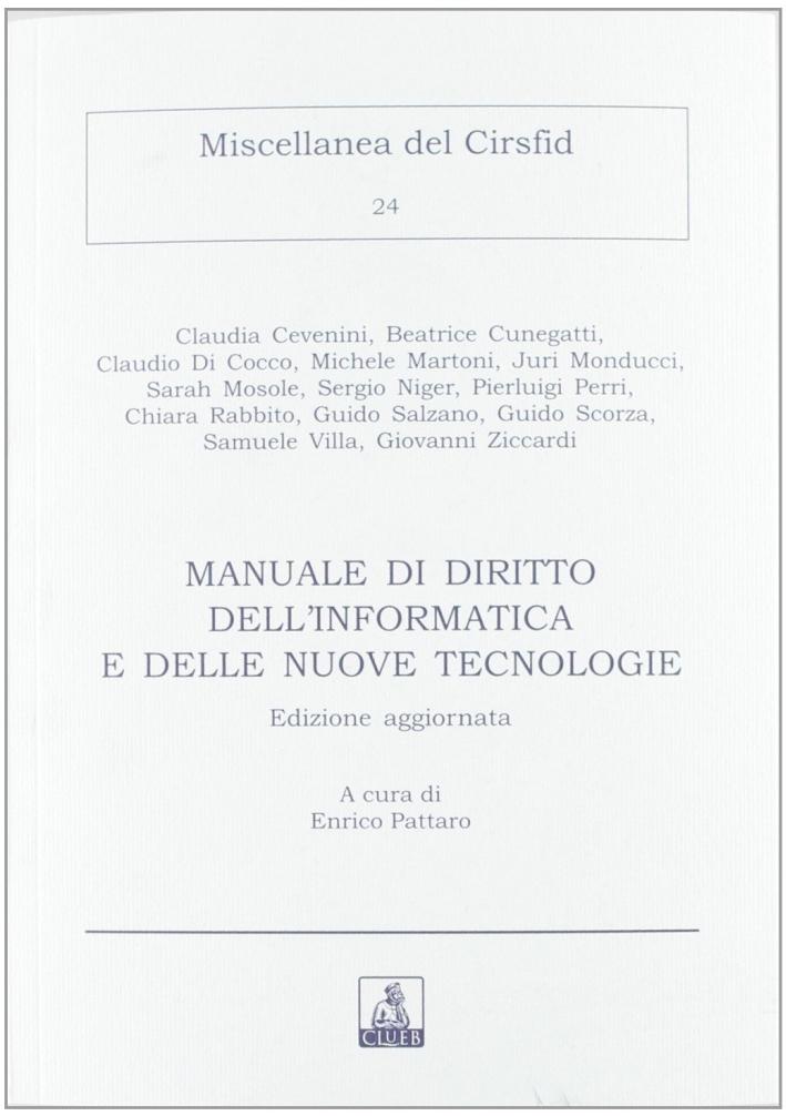 Manuale di diritto dell'informatica e delle nuove tecnologie