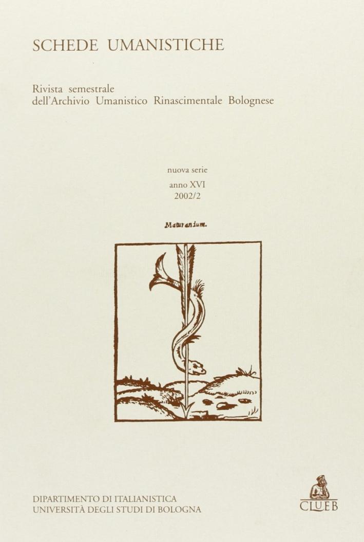 Schede umanistiche (2002). Vol. 2.