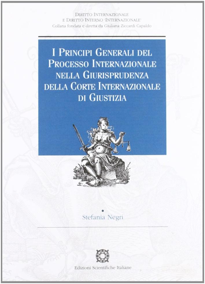 I principi generali del processo internazionale nella giurisprudenza della corte internazionale di giustizia