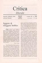 Critica liberale. Vol. 100.