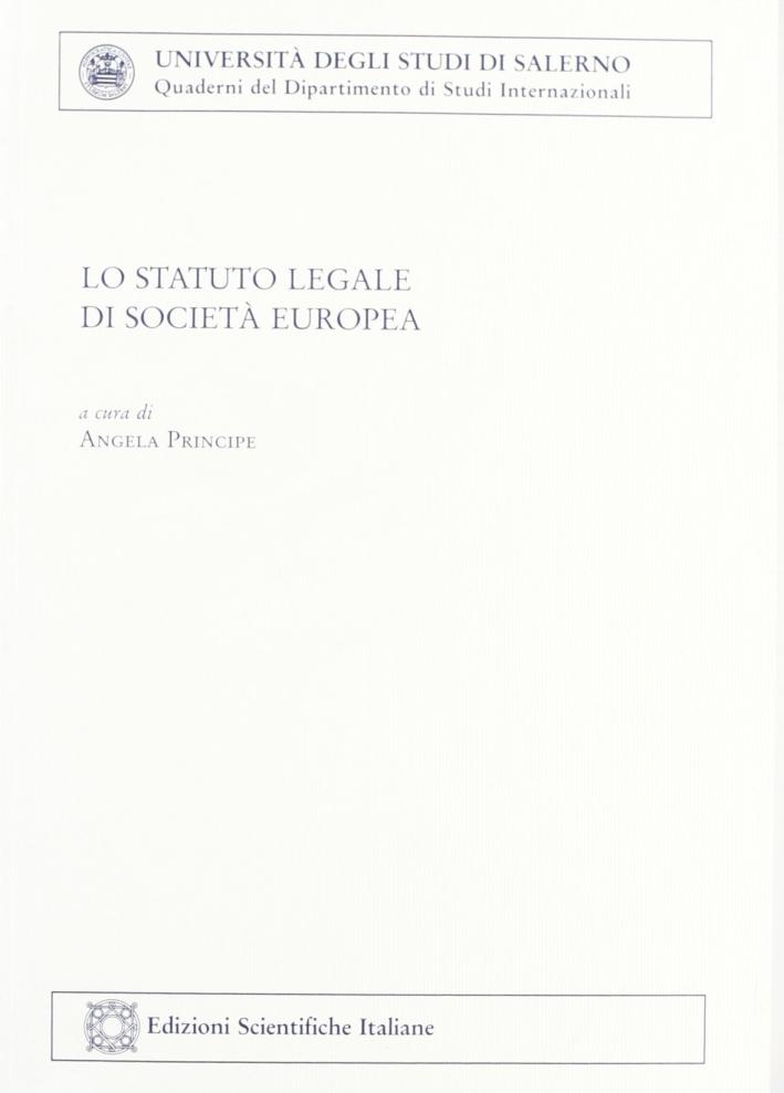 Lo statuto legale di società europea