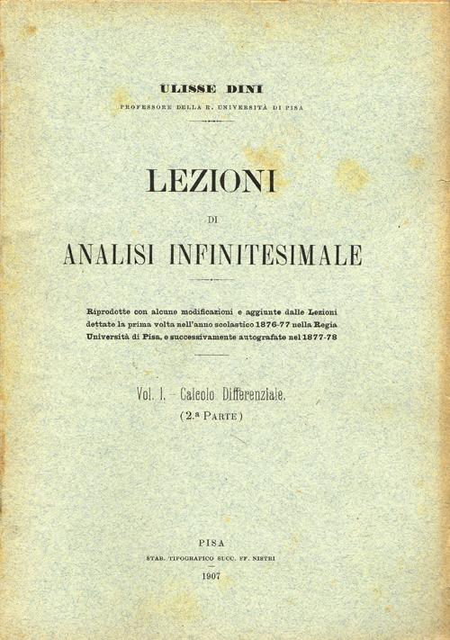 Lezioni di analisi infinitesimale. Vol. 2.