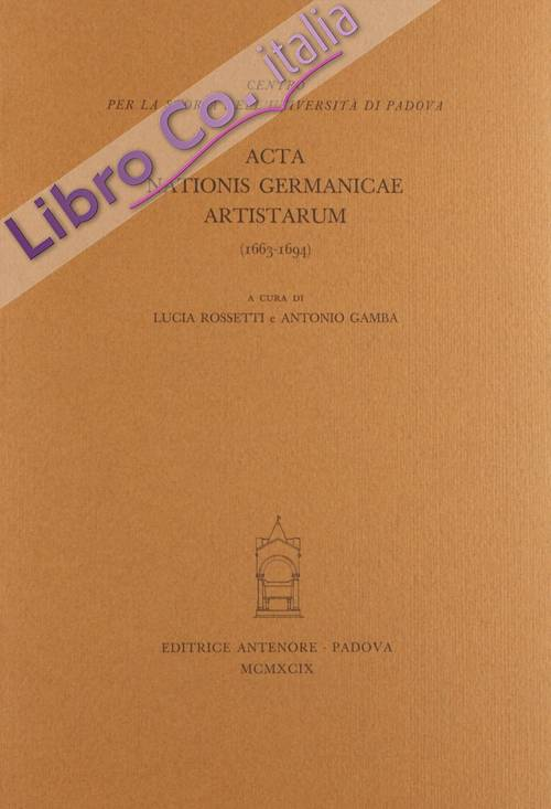 Acta nationis germanicae artistarum (1663-1694)