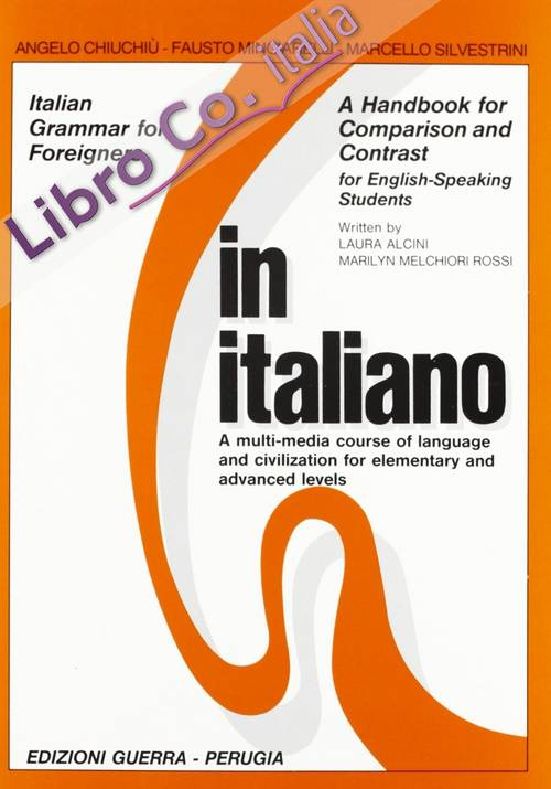 In italiano. A handbook for comparison and contrast. For english-speaking students.