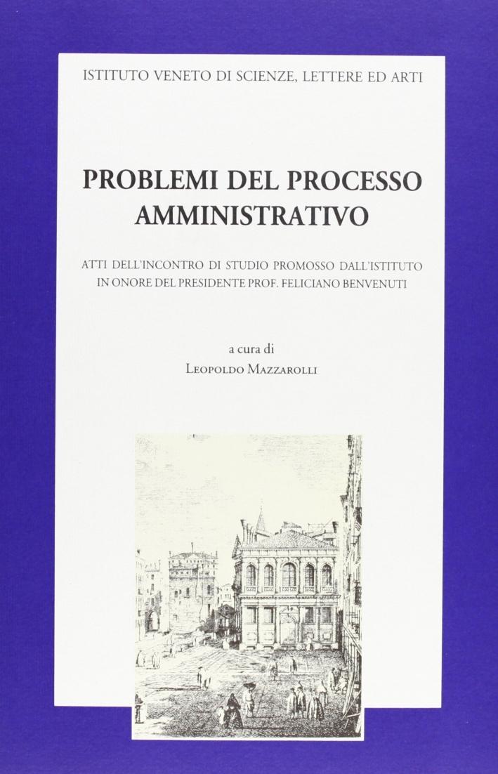 Problemi del processo amministrativo. Atti dell'Incontro di studio promosso dall'Istituto in onore del presidente prof. Feliciano Benvenuti (Venezia,12 aprile 1996)