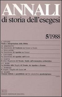 Annali di Storia dell'Esegesi. Vol. 5: 1988.