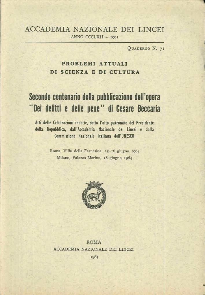 Secondo centenario della pubblicazione dell'opera