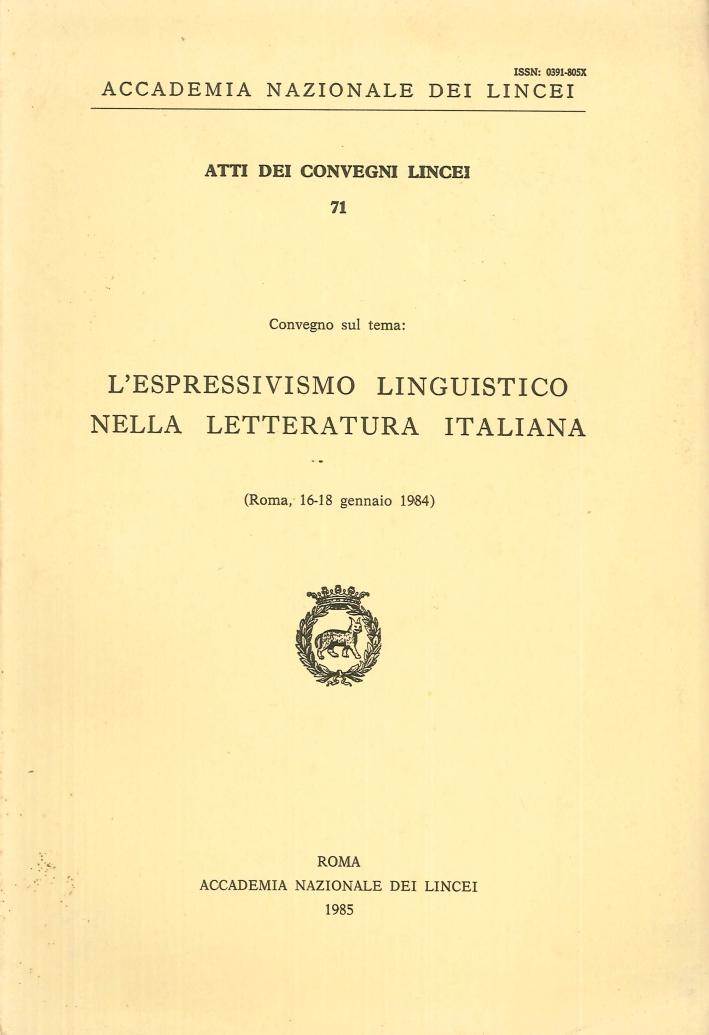 L'espressivismo linguistico nella letteratura italiana