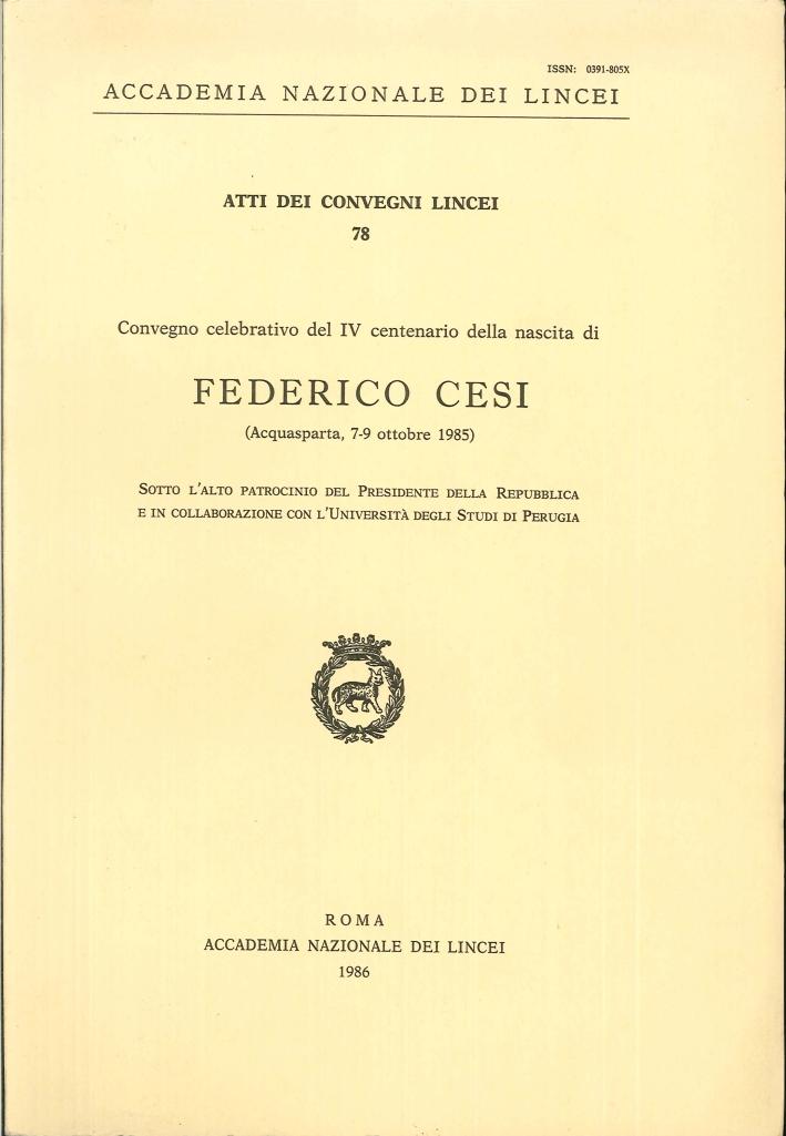 Convegno Celebrativo del 4° Centenario della Nascita di Federico Cesi