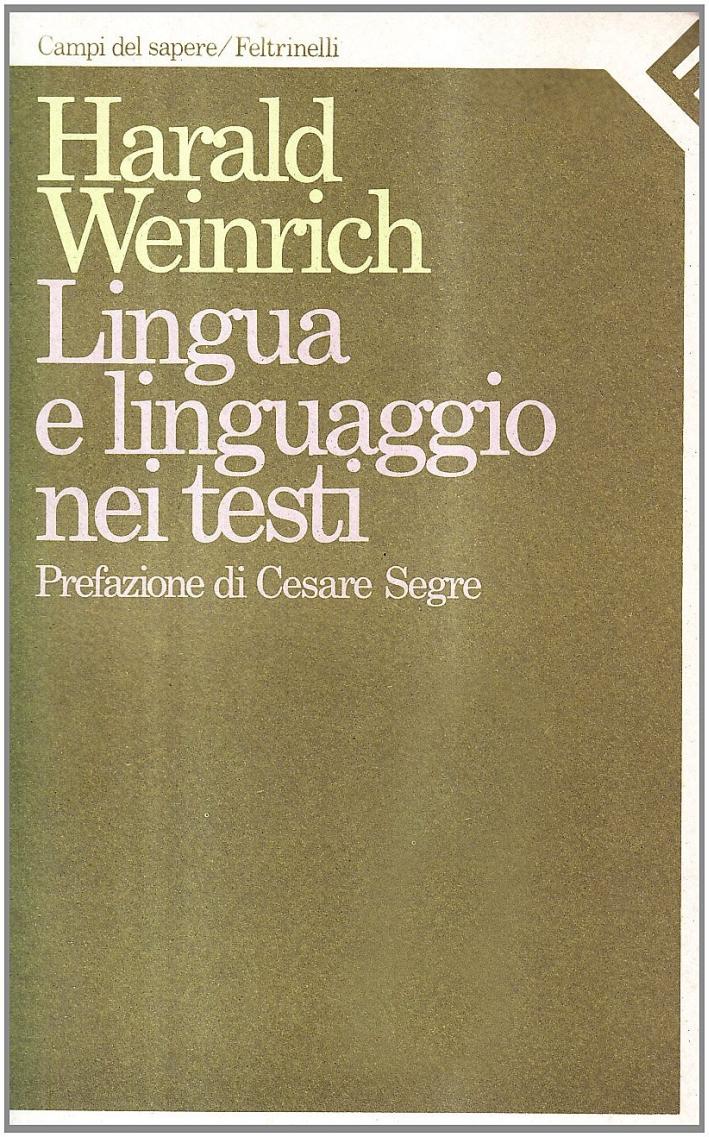 Lingua e linguaggio nei testi