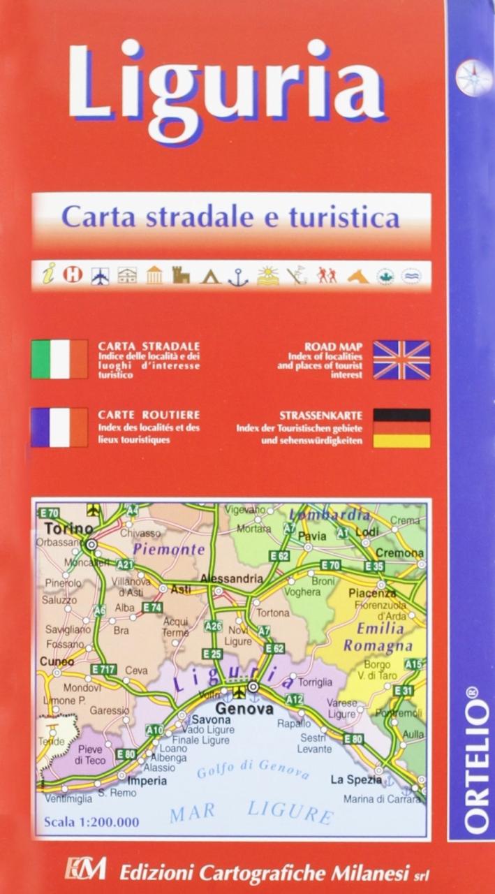 Liguria. Carta stradale della regione 1:200.000