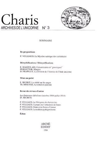 Charis. Archives de l'Unicorne. Vol. 3