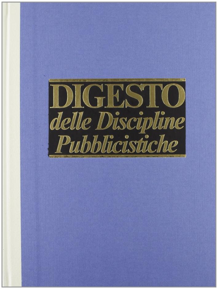 Digesto. Discipline pubblicistiche. Vol. 1