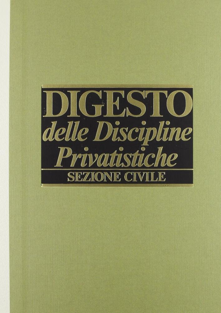 Digesto. Discipline privatistiche. Sezione civile. Vol. 6