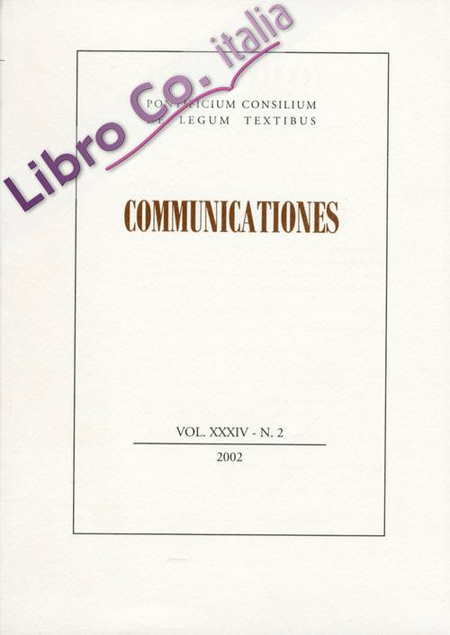 Communicationes XXXIV. 0001-0002. 2002.