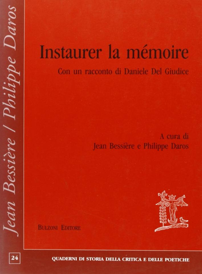 Instaurer la mémoire
