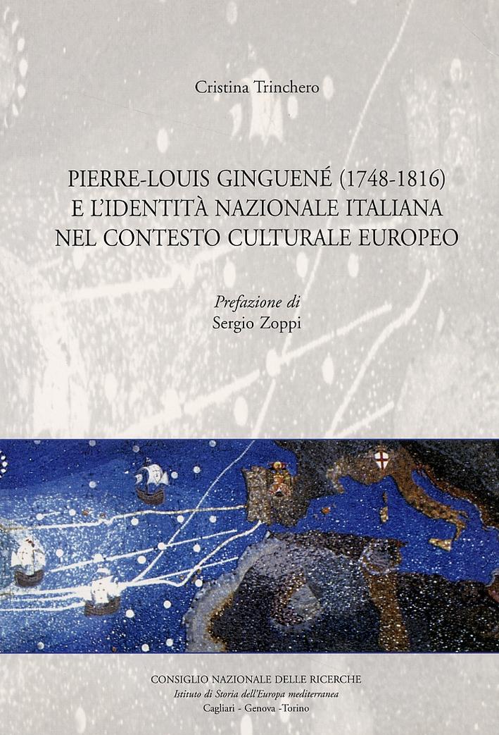 Pierre-Louis Ginguené (1748-1816) e l'identità nazionale italiana nel contesto europeo.