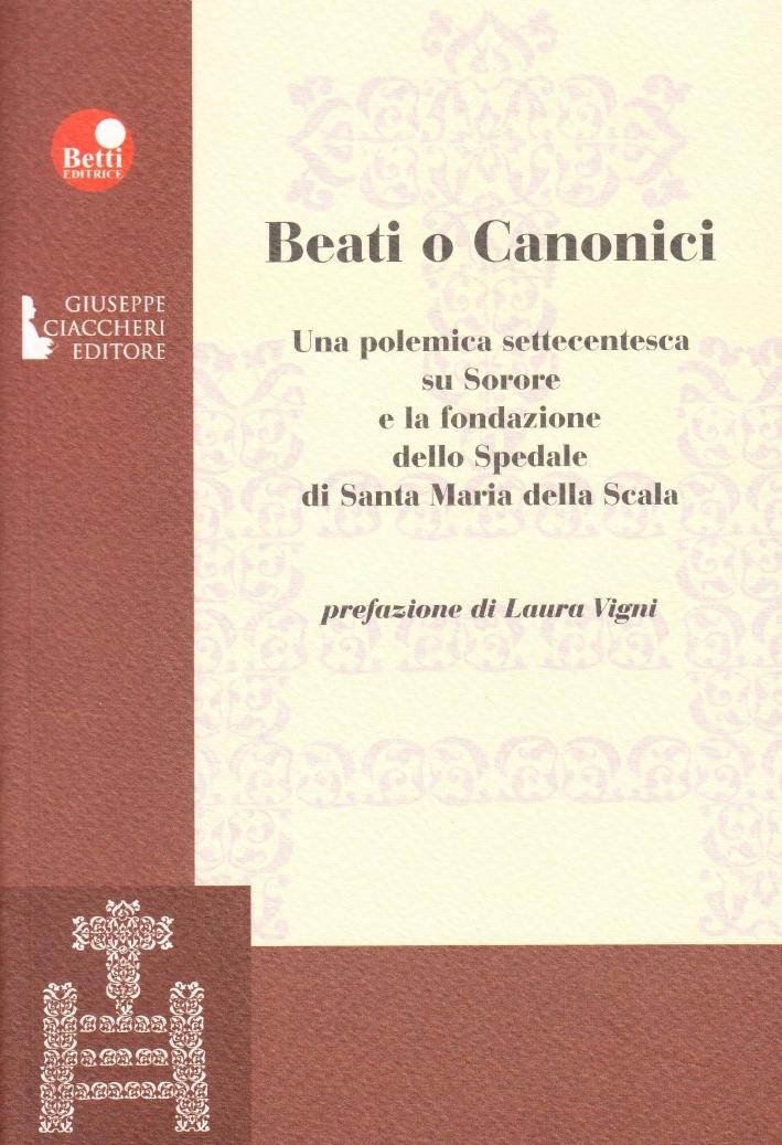 Beati o canonici. Una polemica settecentesca su Sorore e la fondazione dello spedale di Santa Maria della Scala