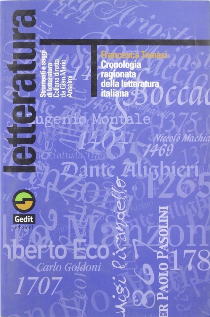Cronologia ragionata della letteratura italiana
