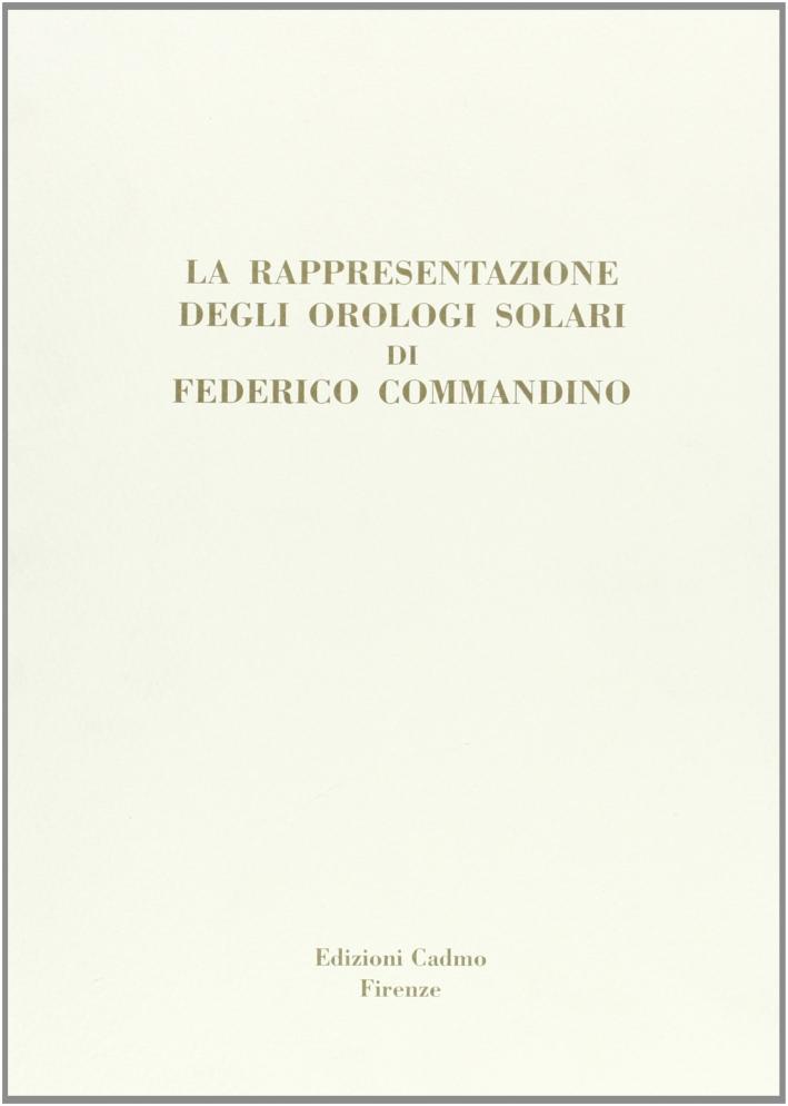 La rappresentazione degli orologi solari di Federico Commandino.