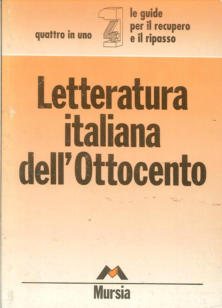 Letteratura italiana Ottocento