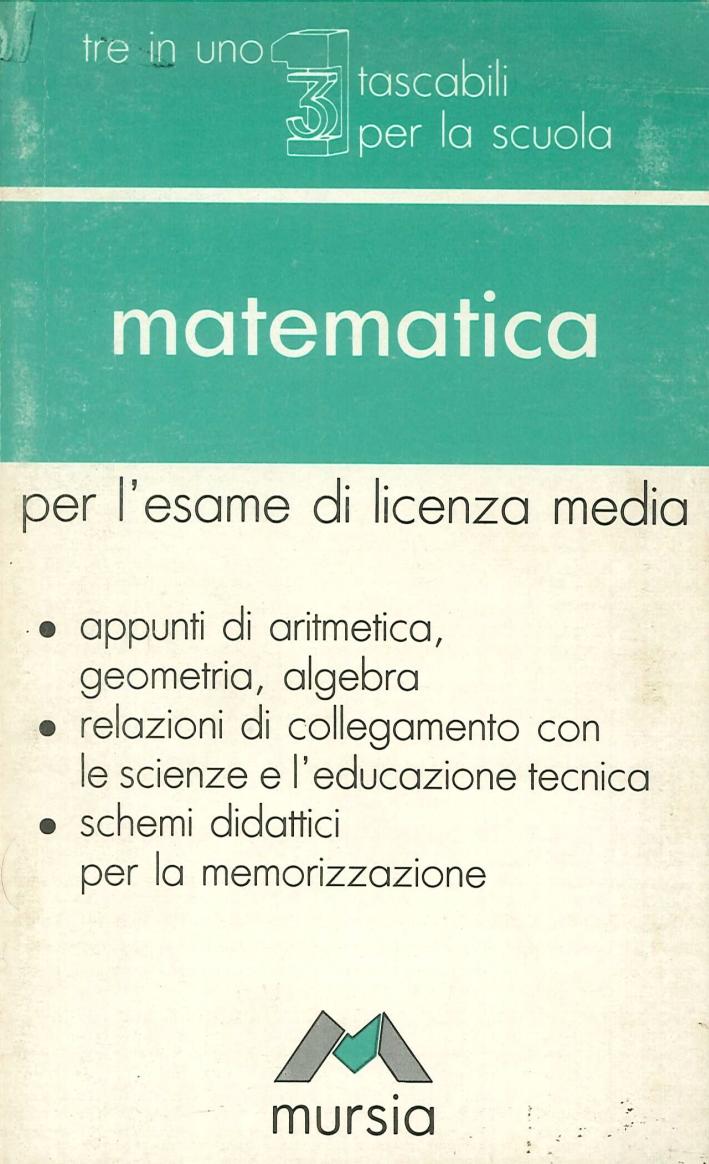 Matematica per l'esame di licenza media