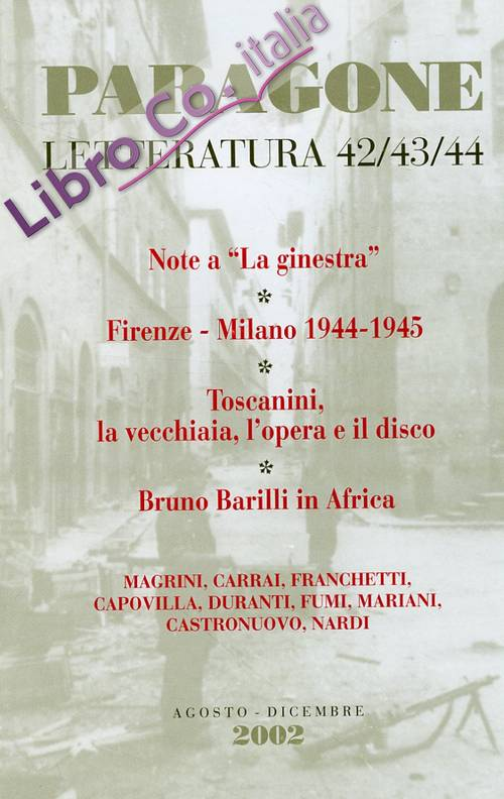 Paragone letteratura. 2002. 42/43/44.
