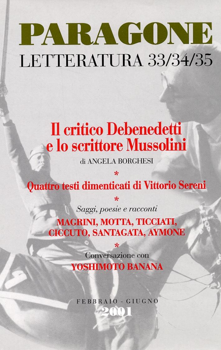 Paragone letteratura. 2001. 33/34/35.
