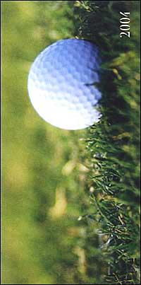 Golf. Agenda settimanale 2004 orizzontale