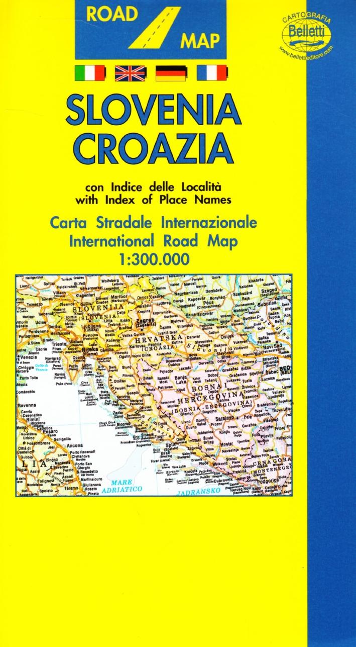 Slovenia. Croazia 1:500.000