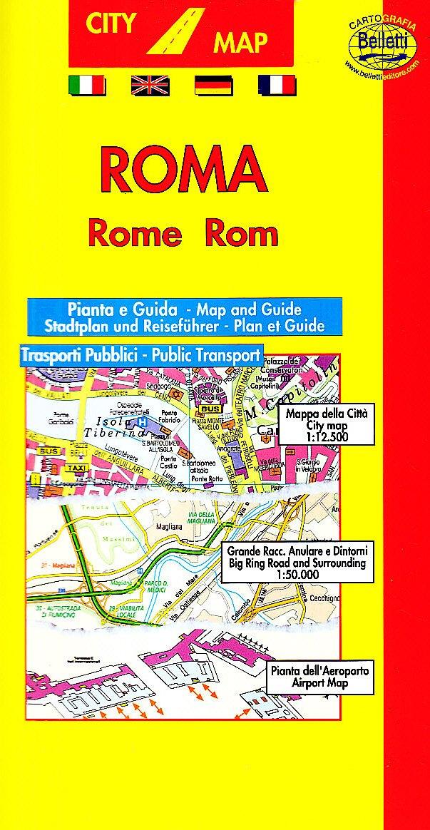 Roma 1:15.000. Con linee bus e guida turistica