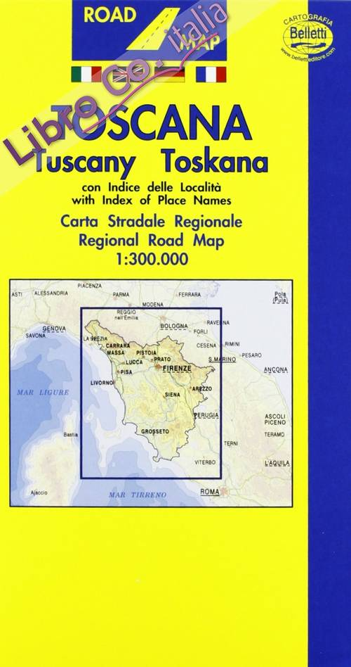 Toscana 1:300.000